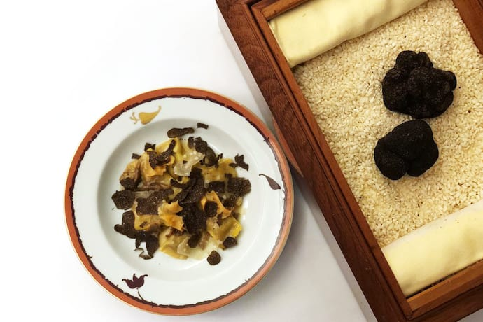 A Decadent Four-Course Dinner That's All About the Black Truffle